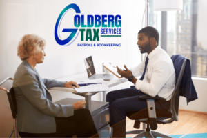 Goldberg Tax Services Working With Customers